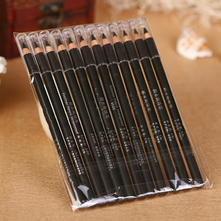 HiCoup 6 Pcs Smooth Makeup Pen Eye Liner Eyeliner Pencil Women Cosmetic Accessories (Eyeliner Makeup For Halloween)
