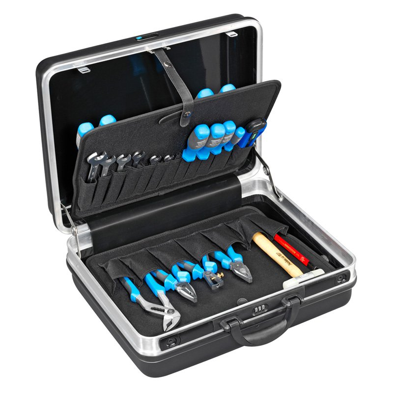 B and W Compact Tool Case with Pocket Boards