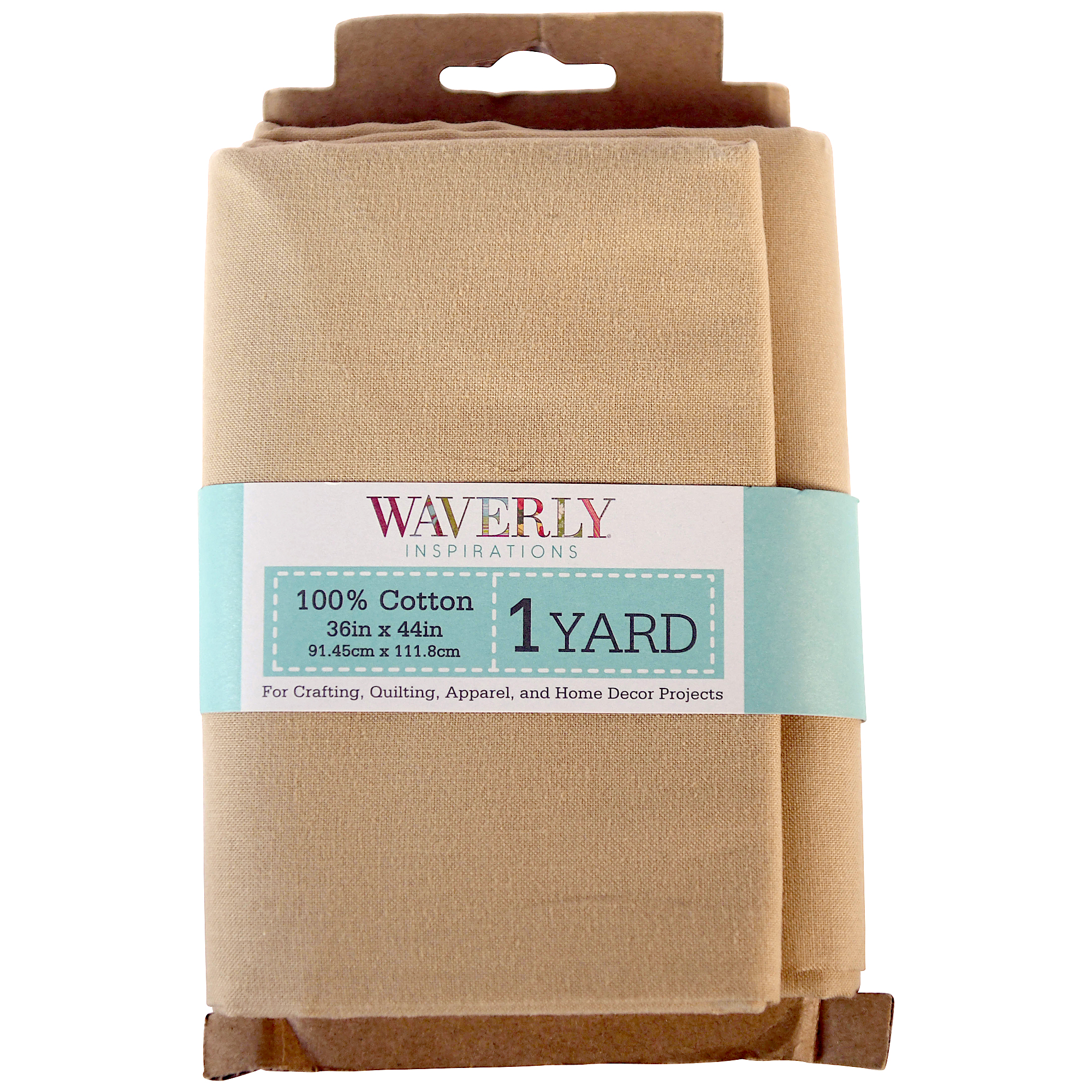 Waverly Inspirations Cotton Solid Tan Fabric, 1 Yd.