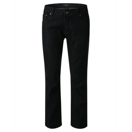 Daniel K Men's Straight Slim Jeans Raw Blue Size 36x30 ()