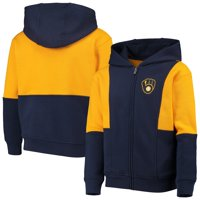 Milwaukee Brewers Youth All That Full-Zip Hoodie - Navy/Gold