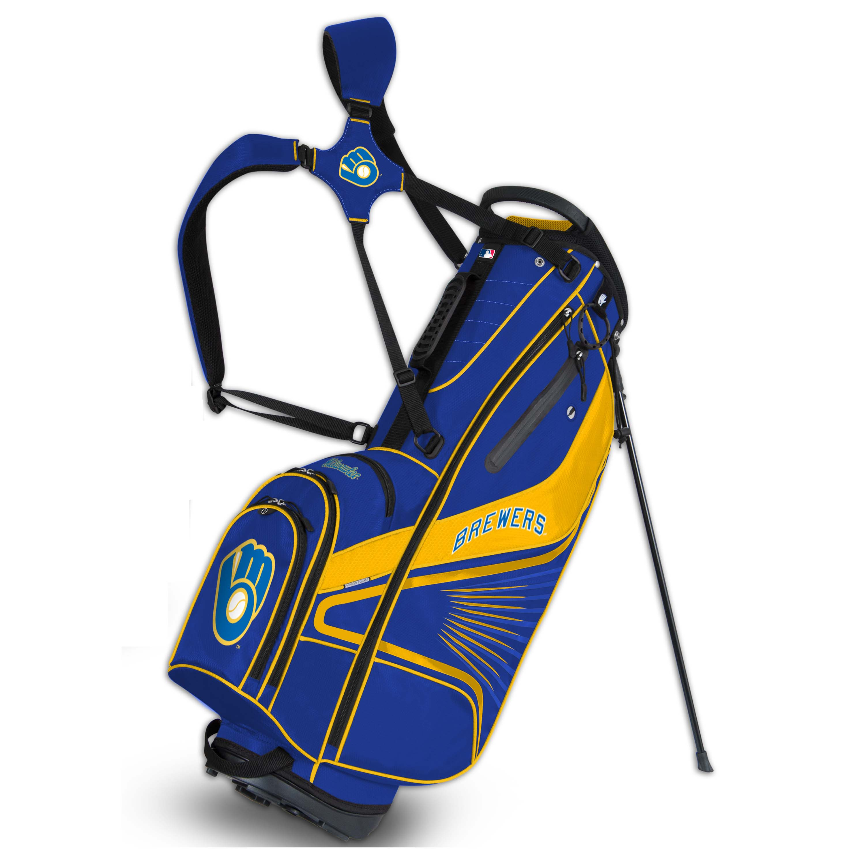 Milwaukee Brewers Gridiron III Golf Stand Bag - No Size