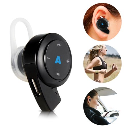 Abco Tech Mini Bluetooth Headphones- Earpiece - with Hands Free Calling and Crystal Clear