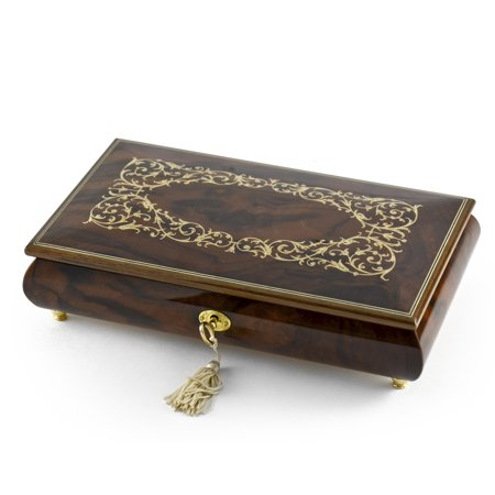 Extraordinary Handcrafted Arabesque Wood Inlay Musical Jewelry Box with Lock and Key - Carousel (Arabesque Wood)