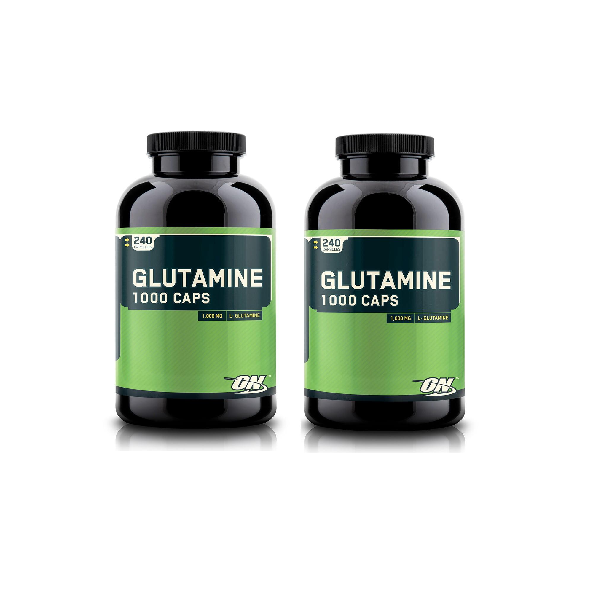Optimum Nutrition Glutamine 1000 Caps 240 Capsules (2 PACK)