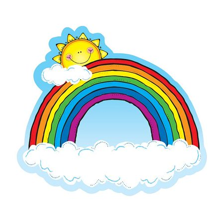 Frank Schaffer Publications/Carson Dellosa Publications Rainbow 2 Sided Decorations Bulletin Board Cut Out - Bullitin Board