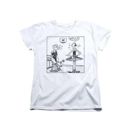 Popeye The Sailor Man Cartoon Comic Strip Popeye & Olive Oil Well Womens T-Shirt