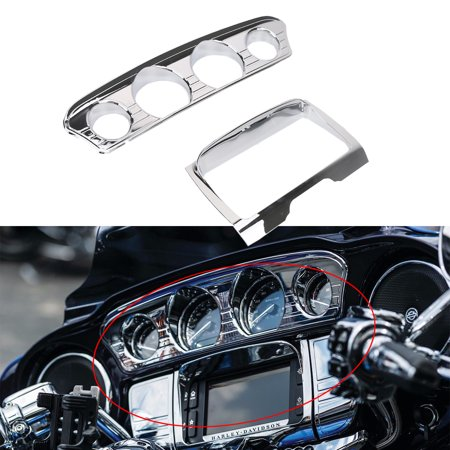 chrome deluxe tri line stereo trim cover for harley. Black Bedroom Furniture Sets. Home Design Ideas