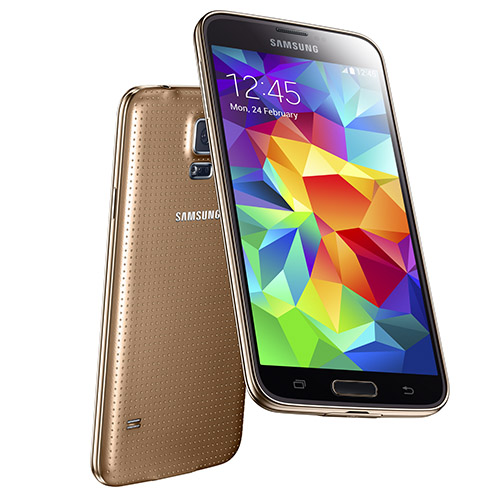 "Samsung Galaxy S5 EURO Unlocked GSM Mobile Phone w/ 5.1"" Touch Screen & 16.0 Megapixel Camera-Gold"