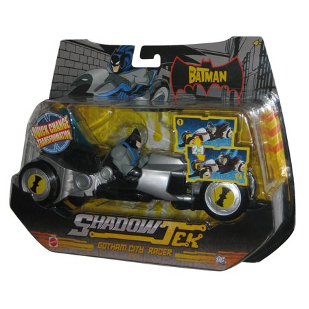 DC Batman Riding ShadowTek Gotham City Racer Vehicle Mattel Toy w/ Figure