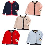 Autumn Winter Baby Boys Girls Front Button Open Bottoming Shirt for Newborn to 4Y  Infant Pajamas Winter Jacket Outerwear Coat Toddler Costume, Pink