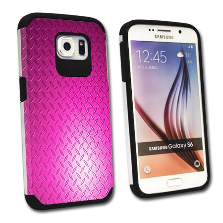 MightySkins Protective Bumper Case Cover for Samsung Galaxy S6 hybrid tpu rubber plastic Pink Diamond