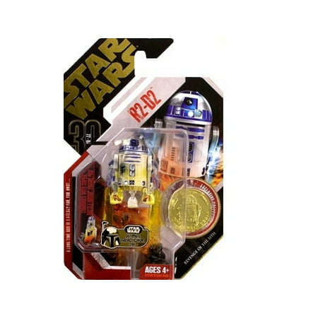 Star Wars Saga Legends Action Figure, R2-D2 with Collector Coin Action Figure Coin