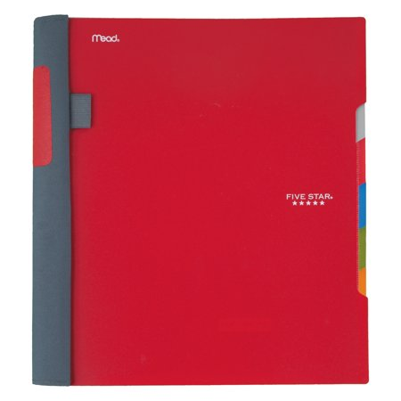 Five Star Advance Notebook, 5 Subject, College Ruled, Assorted Colors (08291) (Five Star Notebook Top Bound)