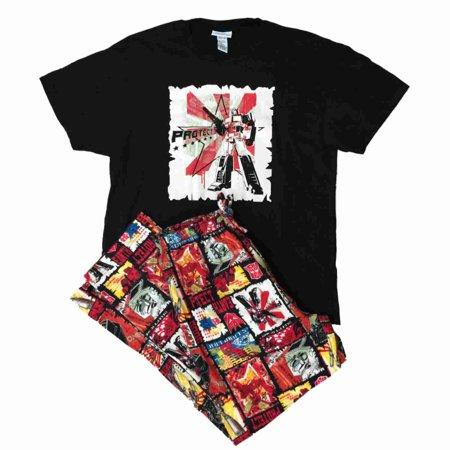 Transformers Mens 2 Piece Optimus Prime Sleepwear Pajama Set Medium