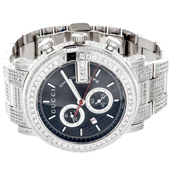 8815e026939 Gucci - Diamond Gucci 44mm Case YA101309 Watch 9.50 Ct New Custom ...