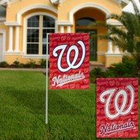 Washington Nationals 18'' x 12.5'' Double-Sided Glitter Suede Garden Flag