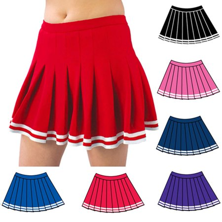 Pizzazz Multi Color Pleated Cheer Uniform Skirt Adult - Adult Cheerleading Uniforms