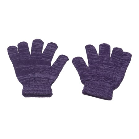 Gold Medal Girls Purple Two Tone Gradient Winter Gloves