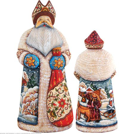 G.Debrekht 210112 Woodcarving Christmas Companions 11 in. - Woodcarved Santa