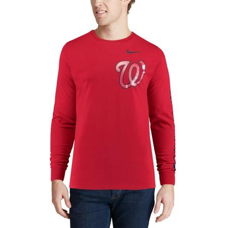 313d4b9bb591 Washington Nationals Nike Heavyweight Long Sleeve T-Shirt - Red -  Walmart.com