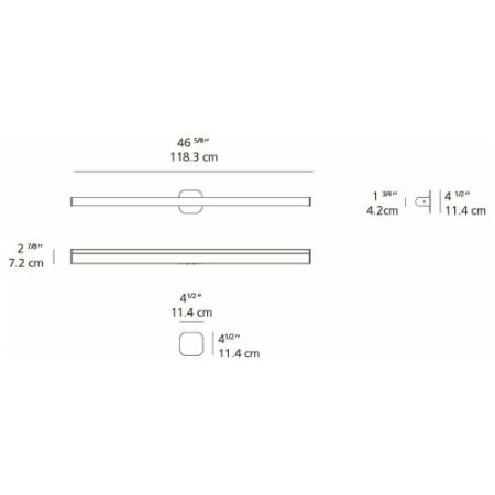 Best Artemide LEDBAR 48 Round Wall / Ceiling Light LEDBar Convertible Single Light 46 deal