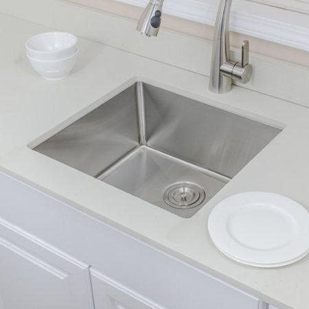 WELLS SINKWARE Chef's Series 20'' L x 19'' W Undermount Kitchen Sink on lowes kitchen sinks, stainless steel kitchen sinks, single bowl kitchen sinks, granite kitchen sinks, ceramic kitchen sinks, undermount sinks 60 40, solid surface kitchen sinks, stone sinks, smart divide kitchen sinks, overmount kitchen sinks, black kitchen sinks, farm kitchen sinks, antique kitchen sinks, elkay sinks, swanstone kitchen sinks, kohler kitchen sinks, american standard kitchen sinks, home depot undermount sinks, inset kitchen sinks, farmhouse kitchen sinks,