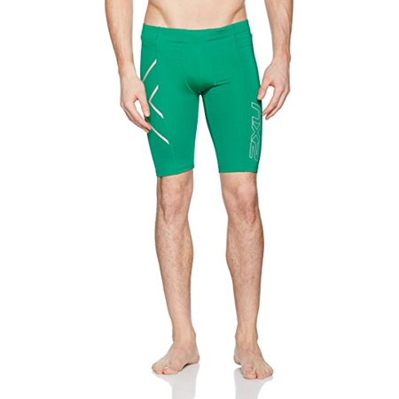 2XU Mens Compression Short Size X-Large Dark Green (2xu Compression Cycle Short)