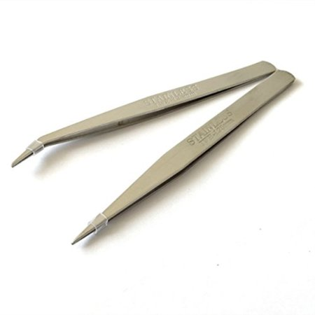 2 stlye stainless sewing machines tweezers for industrial and home sewing and other jewelry working SKU:ADIB013HHTW8I
