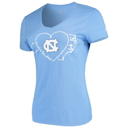 Women's Russell Carolina Blue North Carolina Tar Heels State V-Neck T-Shirt