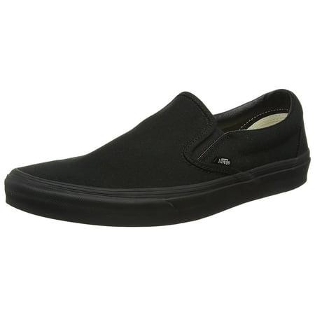 Vans VN-0EYEBKA: Classic Slip-On Canvas Black Black Sneaker (Unusual Vans Shoes)