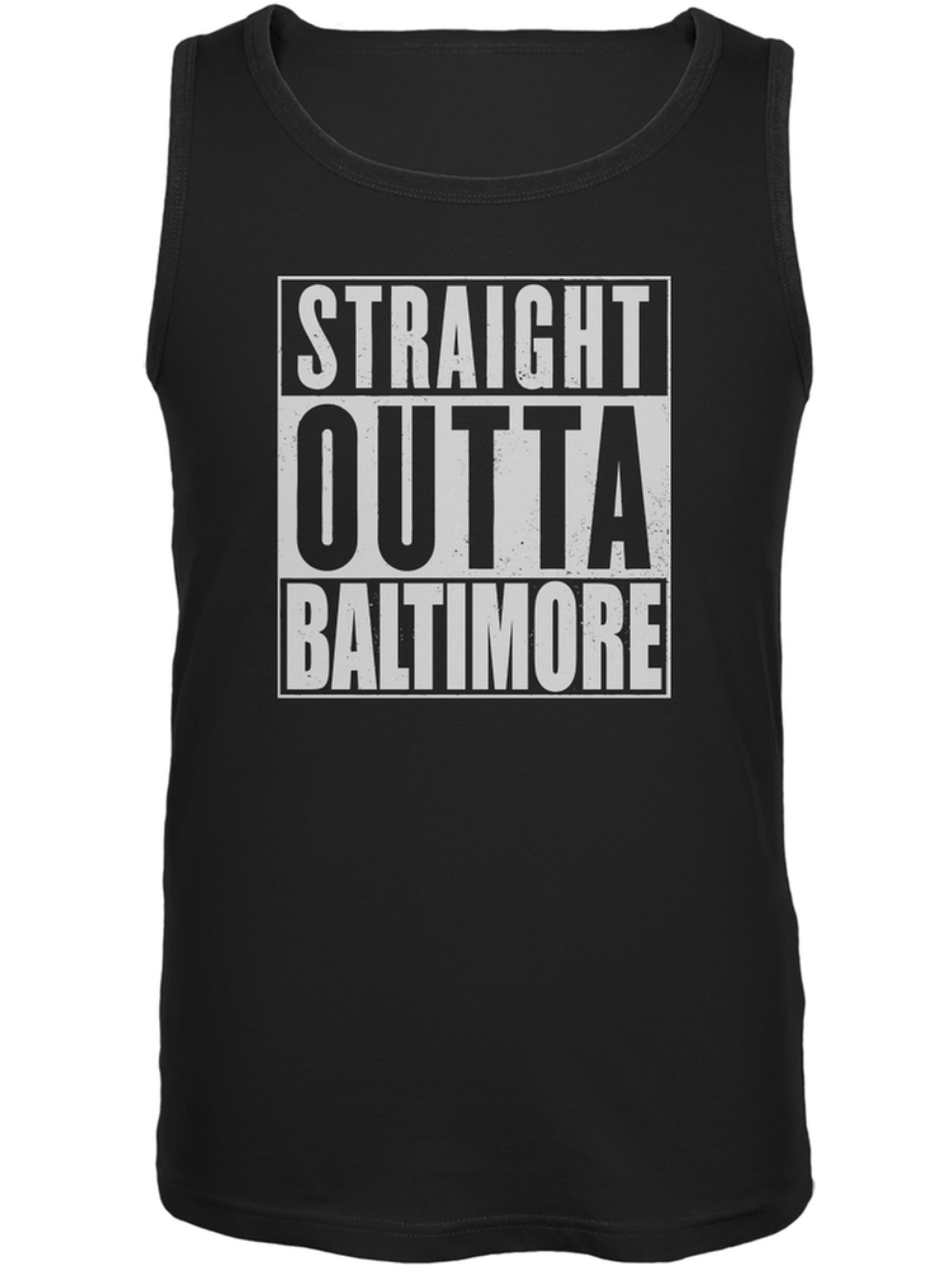 Old Glory Straight Outta Baltimore Black Adult Tank Top