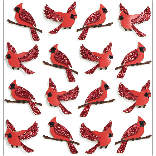Jolee's Christmas Stickers, Cardinals