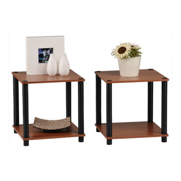 2Pc Cherr End Table Set