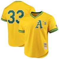 Jose Canseco Oakland Athletics Mitchell & Ness Cooperstown Collection Mesh Batting Practice Jersey - Gold