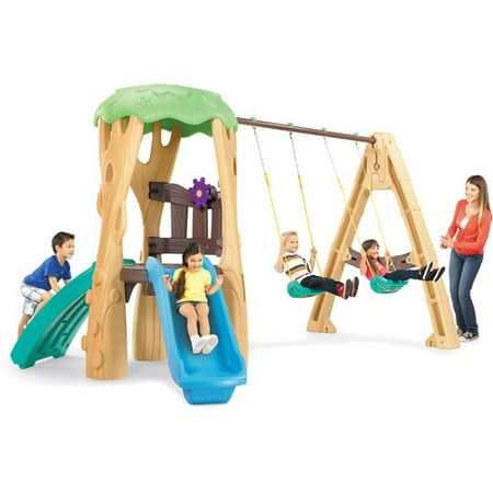 Little Tikes Tree House Swing Set (Swing Set Swing With Back)