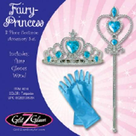 Princess/Fairy 3-Piece Costume Accessory Set, Turquoise - Blue Fairy Wings Costume