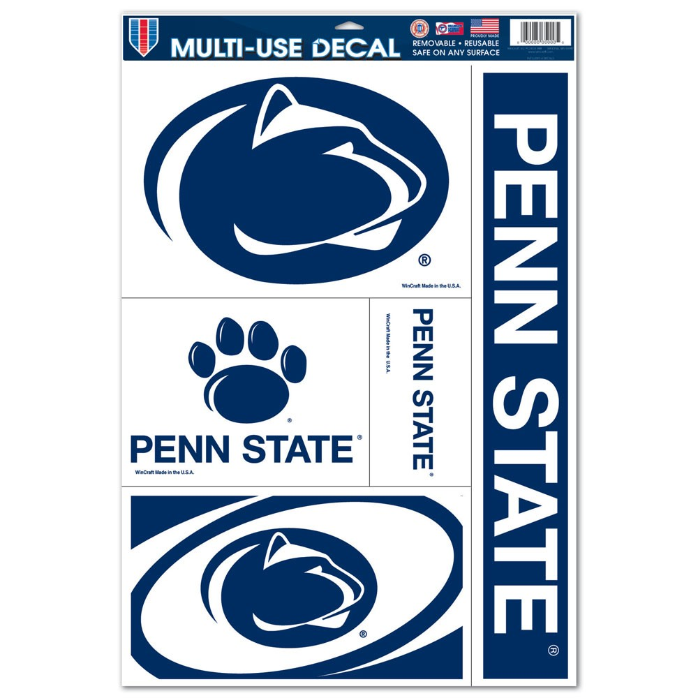 """Penn State Nittany Lions 11""""x17"""" Ultra Decal Sheet"""