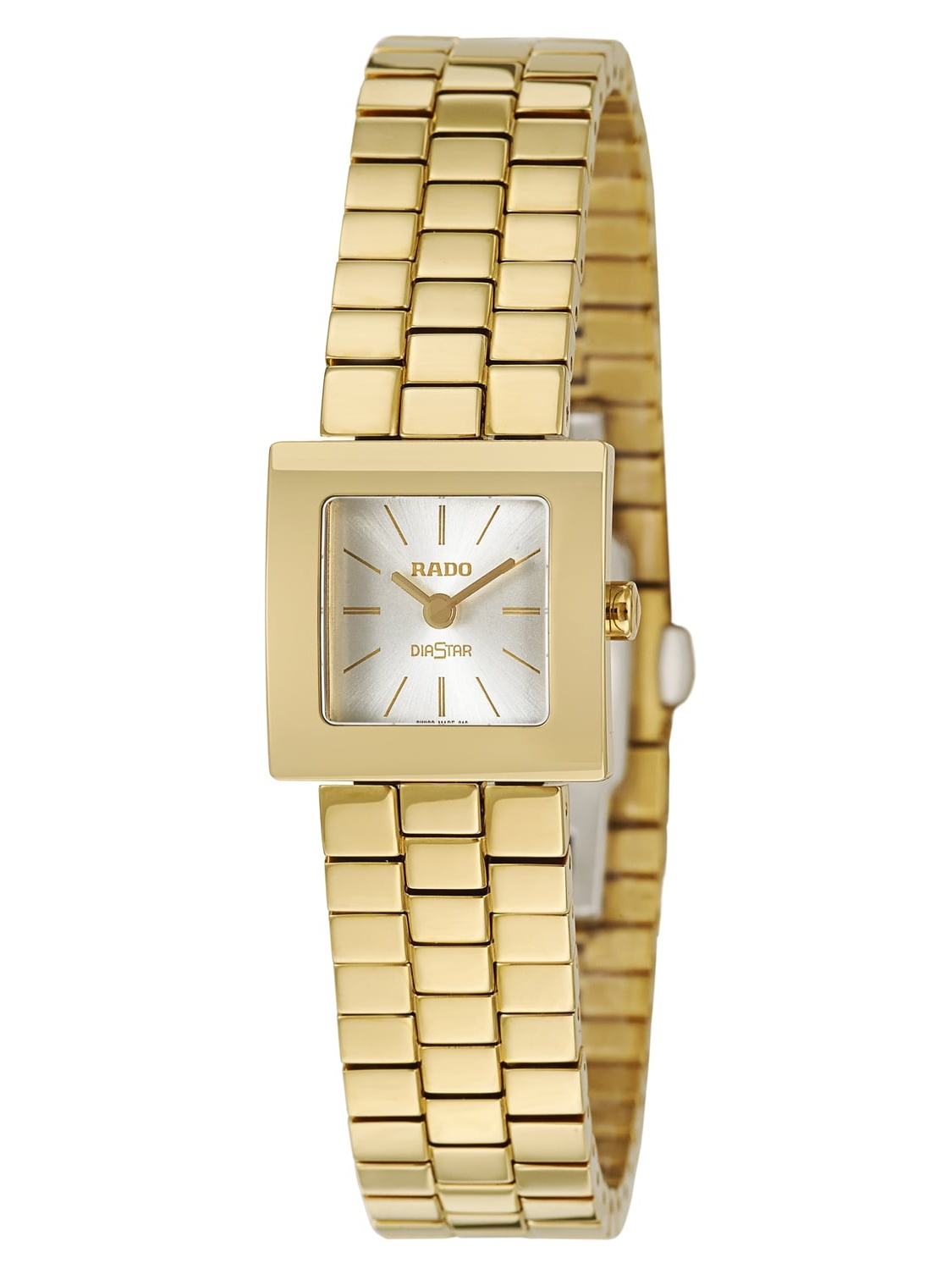 Rado  Women's 'Diastar' Yellow Gold PVD Coated Hardmetal Swiss Quartz Watch