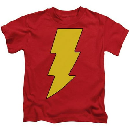 Dc-Shazam Logo - Short Sleeve Juvenile 18-1 Tee - Red, Medium 5-6 - image 1 of 1