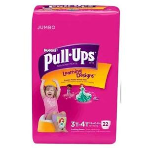 Huggies Pull-Ups Learning Designs Training Pants  3t-4t, Girl Jumbo Pack Pack of 22