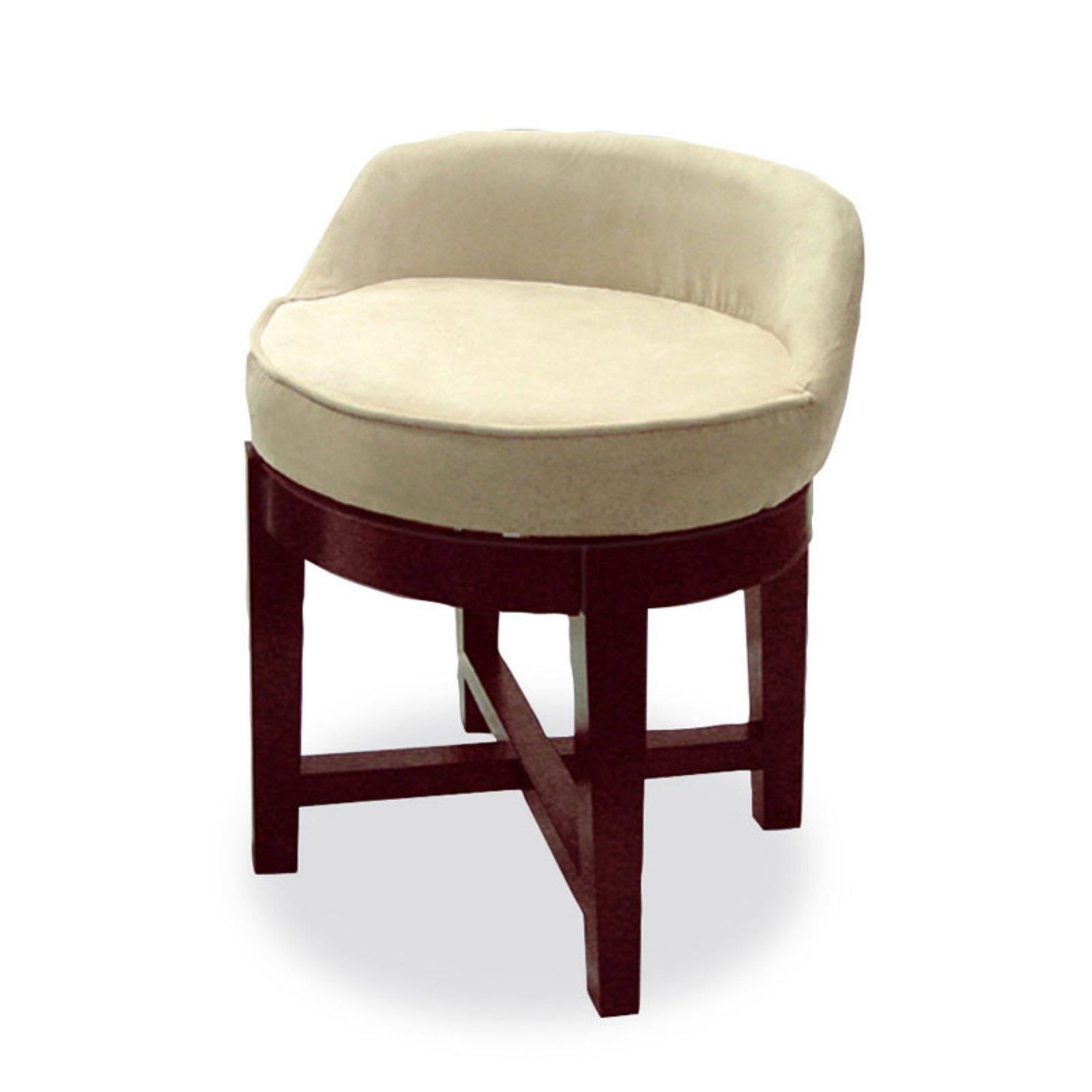Swivel Upholstered Vanity Chair Walmart Com
