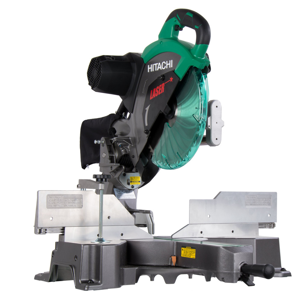 Factory-Reconditioned Hitachi C12RSH2 15 Amp 12 in. Dual Bevel Sliding Compound Miter Saw with Laser Marker... by