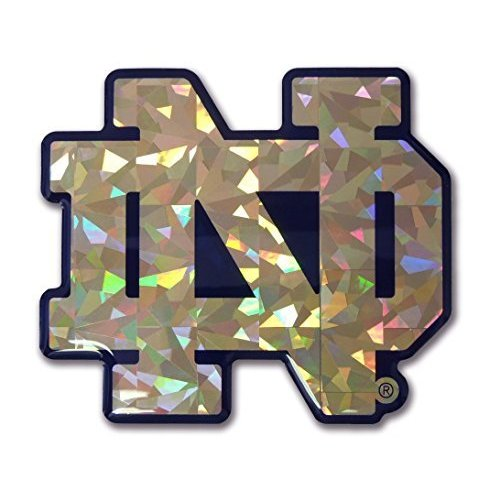 Notre Dame Gold Color NCAA Reflective 3D Decal Domed Sticker Emblem