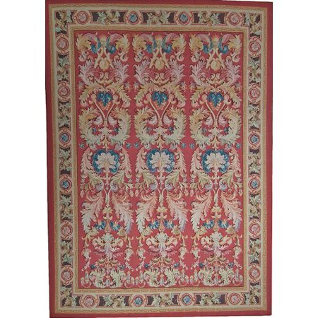 Hand Woven Aubusson Rugs (Pasargad Aubusson Hand Woven Wool Red Area)