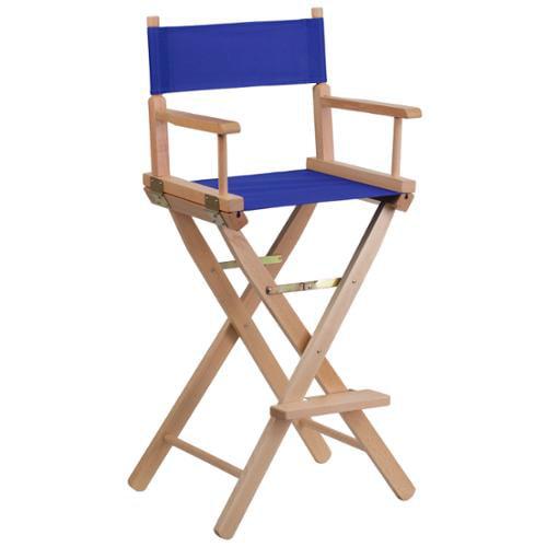 Bar Height Folding Directors Chair Blue