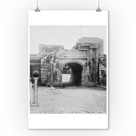 Charleston, SC - Ft. Moultrie Entrance Civil War Photograph (9x12 Art Print, Wall Decor Travel Poster) (Charleston Photo)