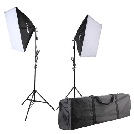 "700W 5500K Photography Studio Soft Box Lighting Kit Continuous Light Equipment for Portrait Video Shooting US Plug(20x28"" Softbox + 80"" Tall Light Stand + Carrying Bag)"
