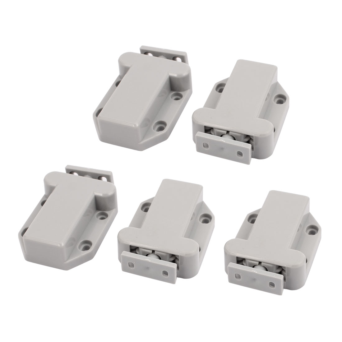Door Cupboard Cabinet Beetle Shape Magnetic Catch Push Gray 5pcs
