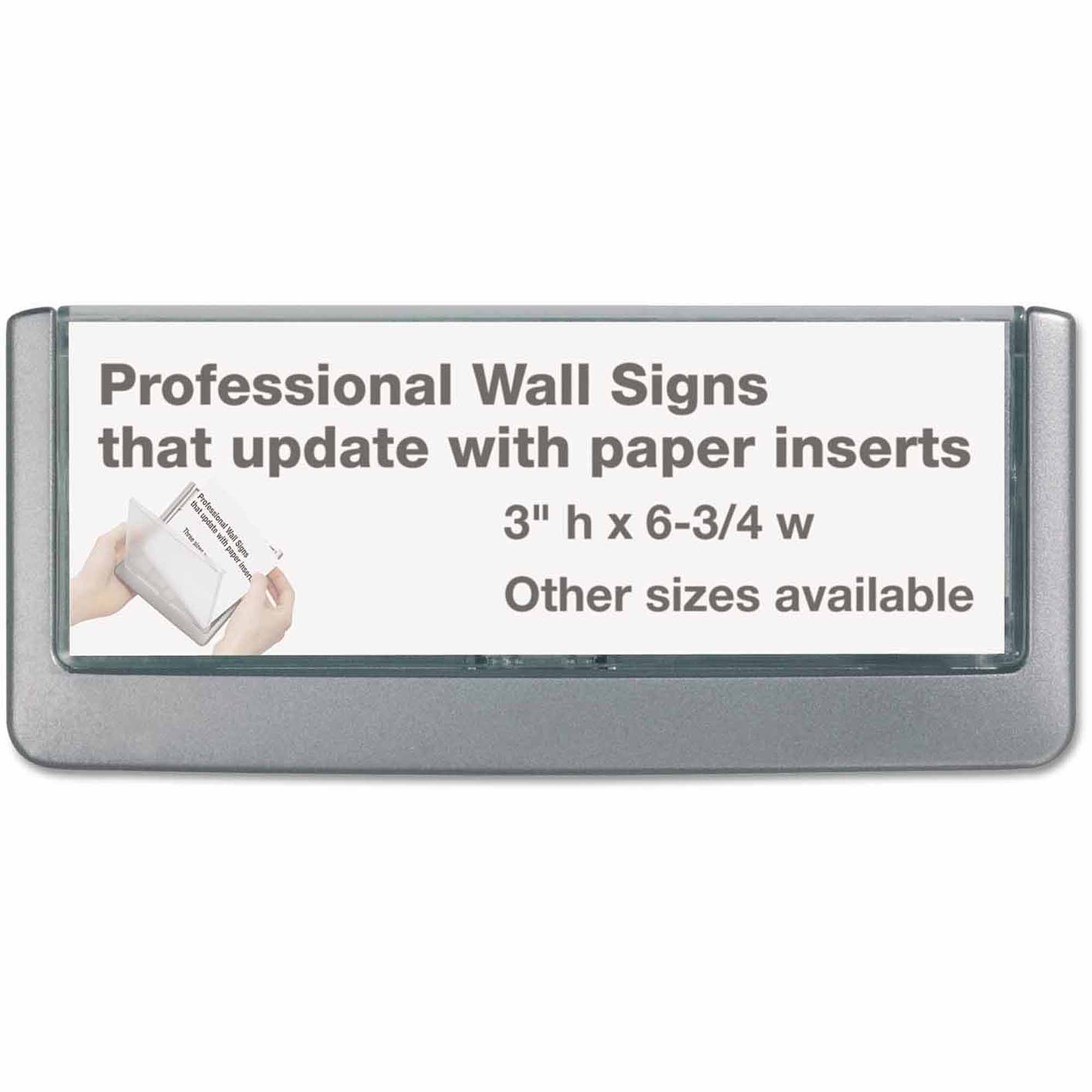 Durable Click Sign Holder For Interior Walls, Gray